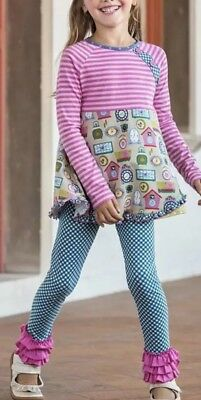 Matilda Jane STRIKE A POSE Leggings Girls Size 10 Make Believe NWT In Bag Blue