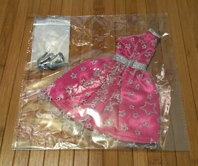 Barbie Convention 2019 Diamond Jubilee Pink Silver Star Glitter Dress Gown NRFB