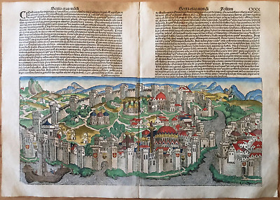 City view CONSTANTINOPLE, Nuremberg Chronicle 1493 - Liber chronicarum, Schedel