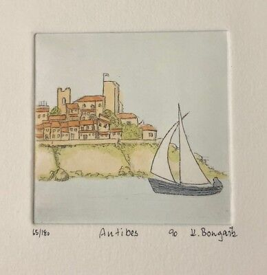 Antibes Art Signed by K. Bongartz & Numbered Artwork Letter Of Authenticity