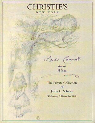 Christie's Lewis Carroll and Alice: Collection of Schiller New York 12/9/98   -P