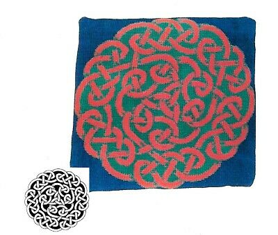 """Celtic Knot Tapestry Kit -Canvas - DMC Wool - Needle - Chart 16"""" Cushion Front"""