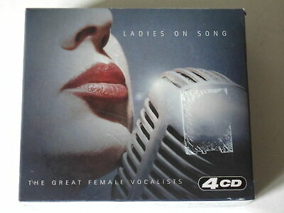 CD LADIES ON SONG - THE GREAT FEMALE VOCALISTS 4 CD Set Hallmark