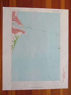 Marinette East Wisconsin 1964 Original Vintage USGS Topo Map