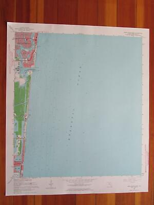 Port Everglades Florida 1964 Original Vintage USGS Topo Map