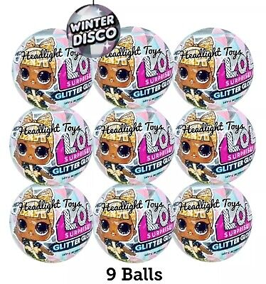 Lot of 9 LOL Surprise Doll Winter Disco Glitter Globe Series Balls OMG Preorder