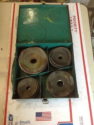 """Greenlee 7304 Conduit Knockout Punch Set 2-1/2"""" to 4"""" Metal Case #7195A"""