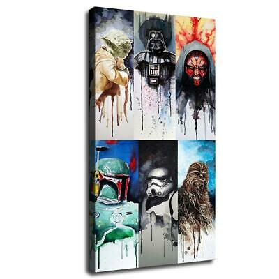 starwars characters HD Canvas prints Home Decor Wall art picture 12X22inch