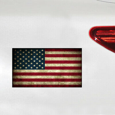 I Stand Rustic American USA Flag Sticker Laptop Cup Car Window Bumper Door Decal