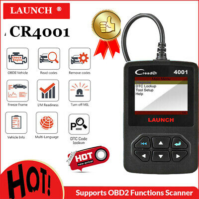 LAUNCH CR4001 OBD Scanner Diagnostic Code Reader OBD2 Car Fault Diagnostic Tool