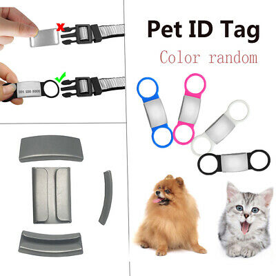 Tensile Rubber Dog Cat ID Tag Puppy Protect Anti Lost Device Pet Nameplate