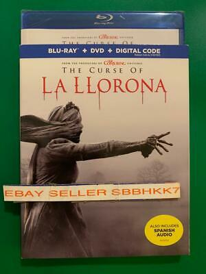 The Curse of La Llorona Blu-Ray + DVD + Digital & Slipcover New Free Shipping