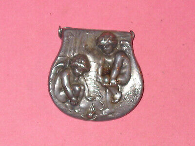 UNGER BROS ART NOVEAU Sterling Single Lingerie Clip ~ Chilly Cupids