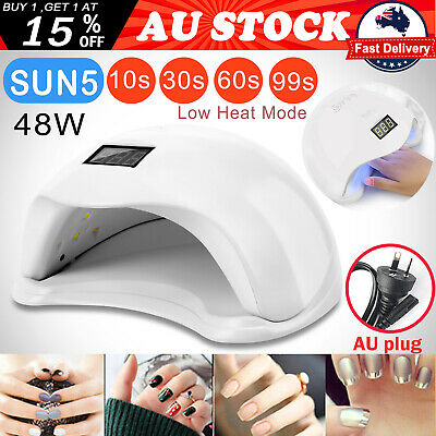 SUN5 48W LED UV Nail Lamp Light Gel Polish Dryer Manicure Art Curing Timer White