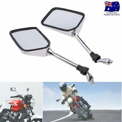 10mm MOTORCYCLE REARVIEW MIRRORS UNIVERSAL FOR HONDA SUZUKI KAWASAKI YAMAHA 10MM