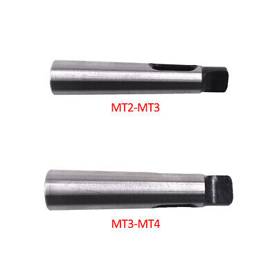2pcs Set MT2-MT3 MT3-MT4 Morse Taper Adapter Reducing Drill Chuck Sleeve
