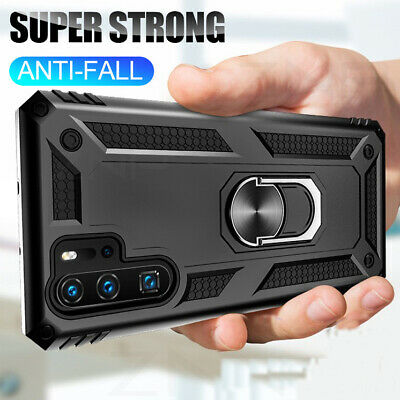 For Samsung Galaxy Note 10 Plus 9 Military Armor Case Magnetic Ring Stand Cover