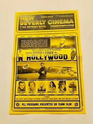 Quentin Tarantino Once Upon A Time In Hollywood New Beverly Cinema Flyer Poster