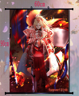 31.5/'/' ) Fate Grand Order Fate//Apocrypha Mordred Wall Scroll Poster (23.6/'/'