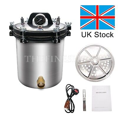 Stainless Steel Pressure Steam Sterilizer Autoclave Hospital Medical AC220V -UK