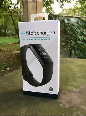 FitBit Charge 3 SEALED BRAND NEW BOXED GRAPHITE BLACK
