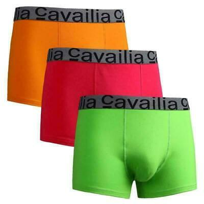 3 Pack of Boxer Mens Cavailia Hipster Underwear Elasticated Boxer Cotton Shorts