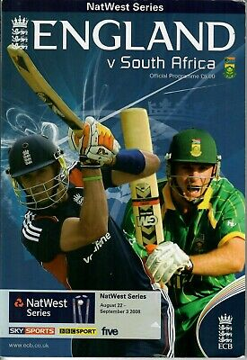 England v South Africa Series 2008 - SIGNED PROGRAMME - See Photos - MINT
