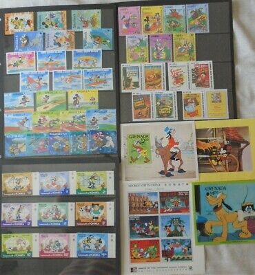 Disney thematic stamps collection - 4 sheets & 7 sets, inc World Cup & Olympics