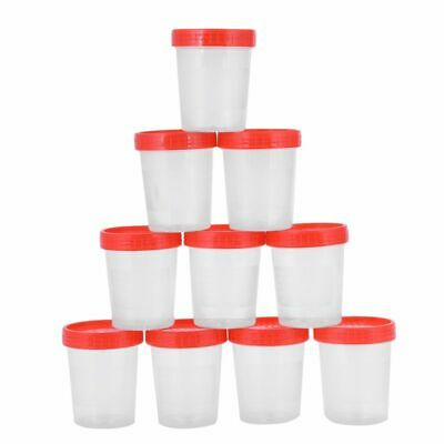 10 pieces urine cup 120 ml + screw cap urine sample cup urine cup plastic c N8K7