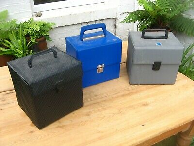 "Vintage 7"" 45 Singles Carry Case Storage Box x3"