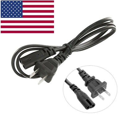 AC Power Cord Cable for PS4 & PS3 Slim Super Slim PS2 XBOX PSV PC 2 Prong LAPTOP