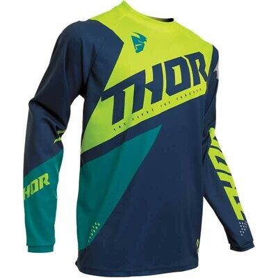 Maillot moto cross homme Thor Sector Blade Navy / Acid