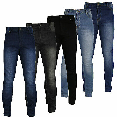 Boys Super SKINNY Stretch DENIM Jeans Adjustable Elasticated Waist band 7-16 YRS
