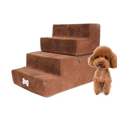 Pet Stairs Pet Ramp Ladder 2/3 Steps For Couch Bed Breathable Mesh Puppy Stairs