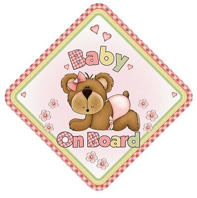 Baby On Board Car Window Sign Non Personalised Safety Baby Child - Cute