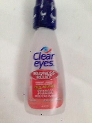 CLEAR EYES REDNESS RELIEF EYE DROPS BURNING DRYNESS 15ml 0.5l.oz. NO BOX