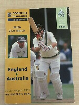England v Australia - ASHES 1995 - 6th Test Official Programme - SIGNED