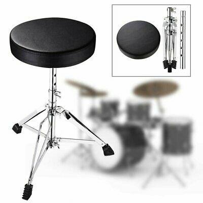 Drum Stool Throne Seat Foldable Heavy Duty Double Braced Padded Top Adjustable