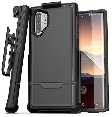 Samsung Galaxy Note 10 Plus Belt Clip Holster Case Cover w/ Holder Black