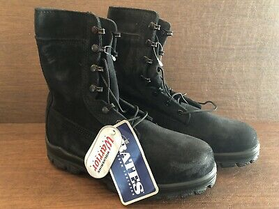 c85711942f8 BATES WOLVERINE MENS Black Military Work Style Boots 10m - $30.00 ...