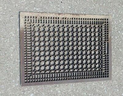 Antique Vtg Large Cast Iron Floor Grate Vent Steampunk!