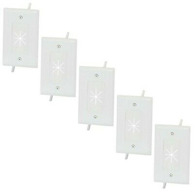 10x 1-Gang Low Voltage Split Wall Plate Flexible Opening For AV HDMI Cable White