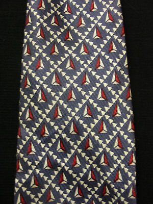 Vintage 1950'S-1960'S Silk Violet Tie With Triangles