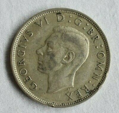 Silver Half Crown Coin George VI 1937