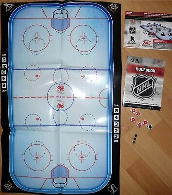 """NHL 2.5"""" Rink Rulebook Dice Game Series 3 2017 Imports Dragon Hockey Toy LOOSE"""