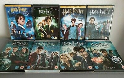 Harry Potter 1 - 8 Complete Dvd Film Collection Full Set