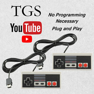 2 New Replacement Wired Game Pad Remote Controller Nintendo NES Classic Console