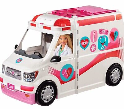 Barbie Care Clinic Van Large Rescue Vehicle Toy Car Ambulance