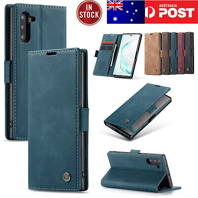 F Samsung Galaxy Note 10+ Plus 5G S8 S9 S10 Leather Card Stand Wallet Case Cover