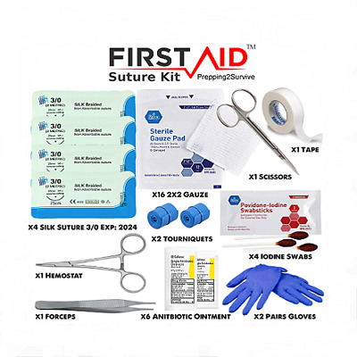 Surgical Suture Kit - Family First Aid Medical Supplies - Suture Set - Survival